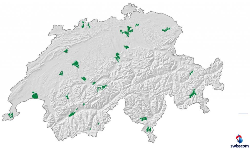 Swisscom LTE Netzabdeckung Dezember 2012