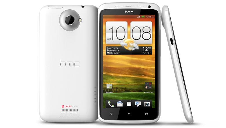 Weisses HTC One XL von allen Seiten