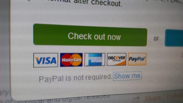 Bezahlen mit Kreditkarte oder PayPal ist standard