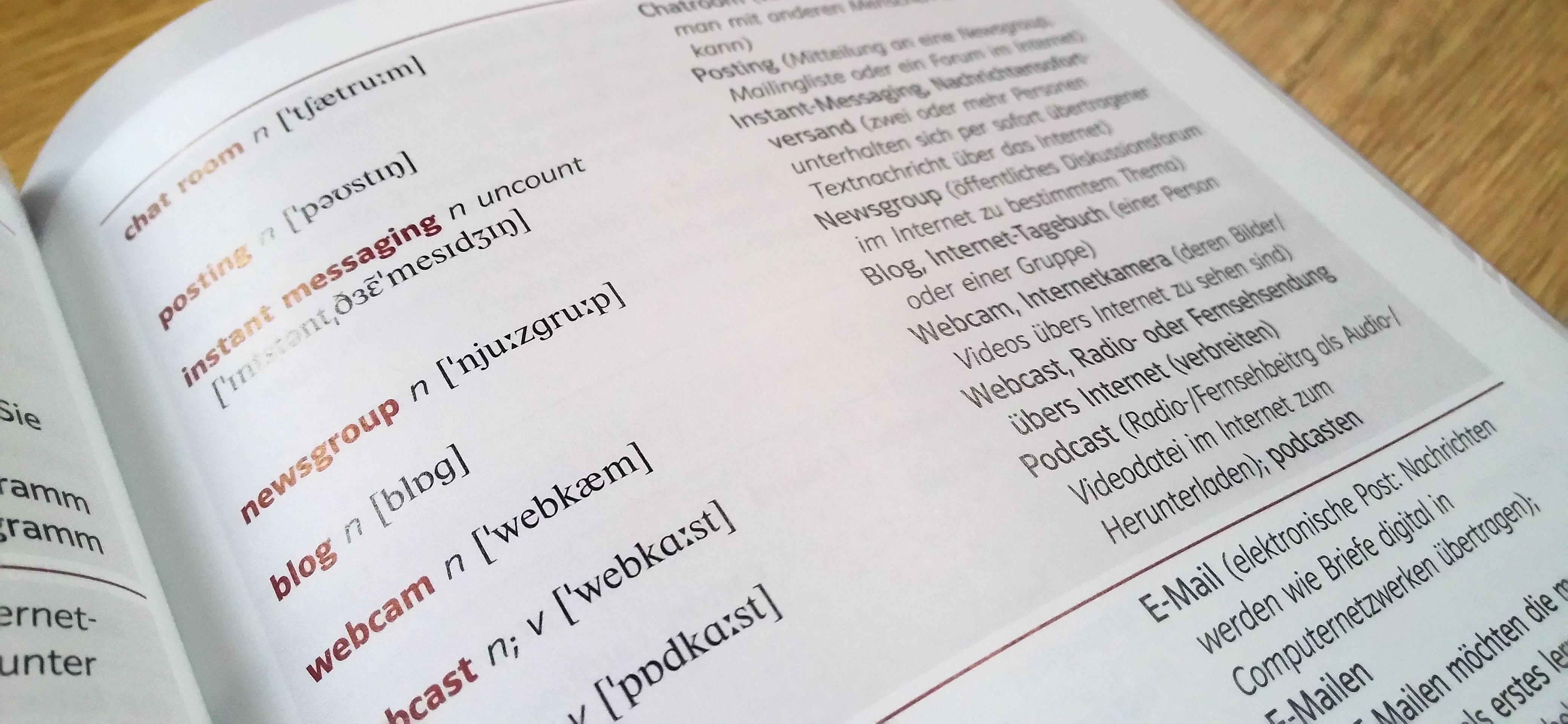Englisch - Deutsch Wortschatzbuch