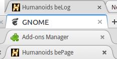 Tabs von oben nach unten: Chrome, GNOME, Thunderbird und Firefox