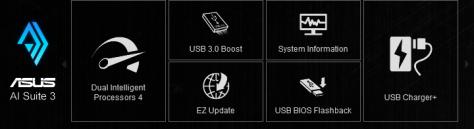 Asus AI Suite 3 Funktionen