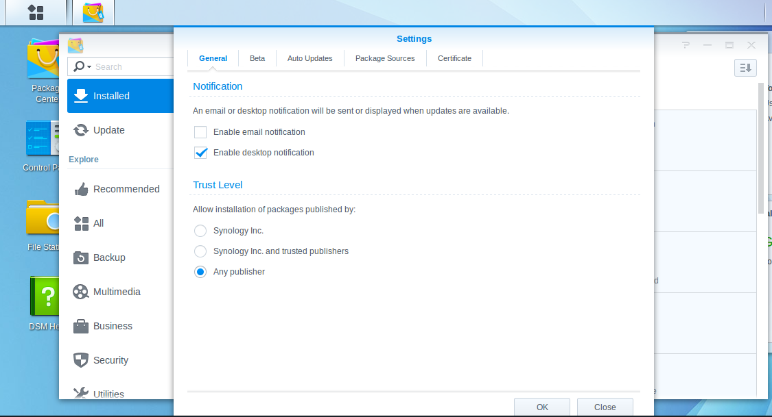 Install ZNC on a Synology DiskStation - Humanoids beLog